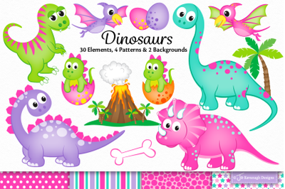 Dinosaur clipart, Dinosaurs graphics & illustrations, T-rex -C46
