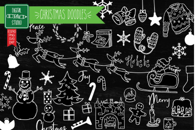 Hand Drawn Christmas White | New Year Holiday | Winter Party