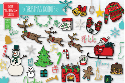 Hand Drawn Christmas Colored | New Year Holiday | Winter Party
