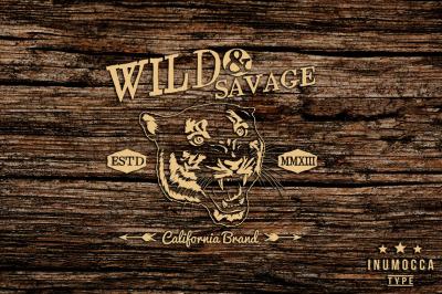 Wild Vintage badges (EDITABLE TEXT)