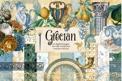 Grecian Clipart and Digital Paper