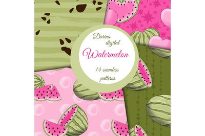Pink watermelon patterns