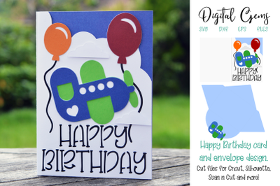 Birthday card, Aeroplane design