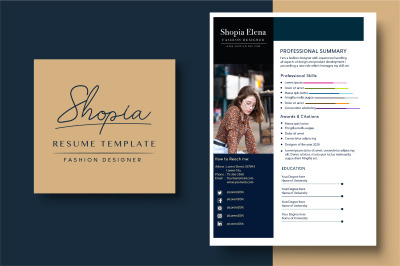 Resume Template - Fashion Designer