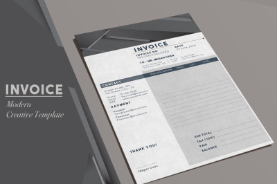 Invoice Template - Modern designAbout the Product  Creative Invoice Te