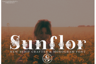 Sunflor-A New Crafter and Monogram Serif Font