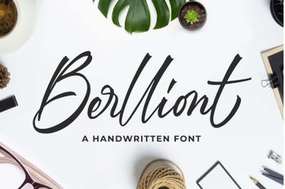 Berlliont a Handwitting Font