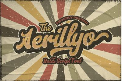 Aerillyo - Retro Bold Script Font