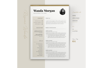Resume Template and Cover