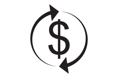 Exchange and currency conversion. Dollar Icon