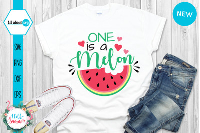 One Is A Melon Svg, Summer Svg, Watermelon Svg