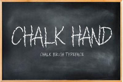 CHALK HAND - chalk font