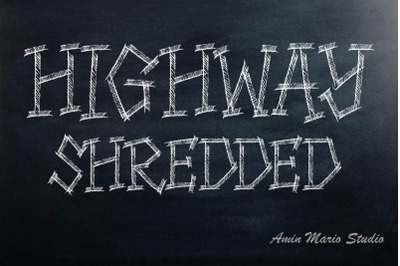 HIGHWAY SHREDDED - ALLCAPS