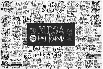 MEGA FALL SVG BUNDLE - 50 Designs