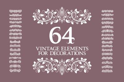 64 vintage elements