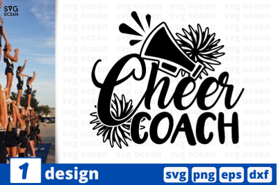 1 CHEER COACH, cheer quote cricut svg