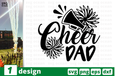 1 CHEER DAD, cheer quote cricut svg