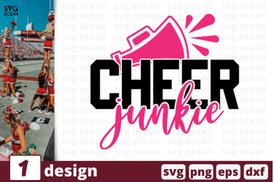 1 CHEER JUNKIE, cheer quote cricut svg