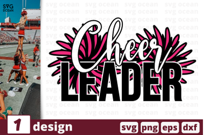 1 CHEER LEADER, cheer quote cricut svg