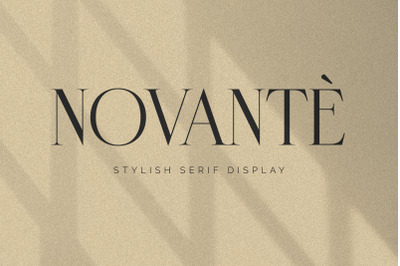 Novante | Display Serif