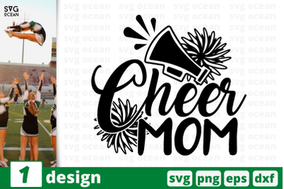 1 CHEER MOM, cheer quote cricut svg