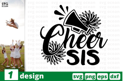 1 CHEER SIS, cheer quote cricut svg