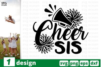 1 CHEER SIS, cheer quote cricut svg