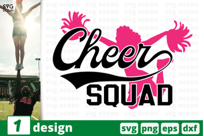 1 CHEER SQUAD, cheer quote cricut svg