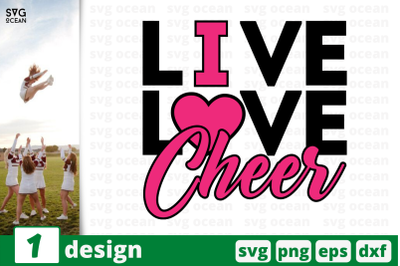 1 LIVE LOVE CHEER, cheer quote cricut svg
