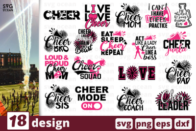 18 CHEER, cheer quotes cricut svg