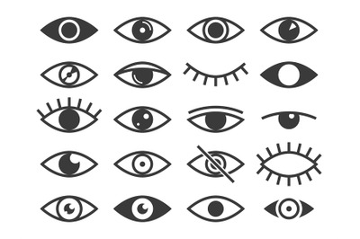 Eye icon. Medicine supervision health eyes, look and vision, sleep. Ob