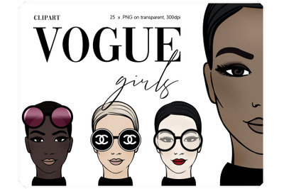 Fashion Clipart - VOGUE illustrations
