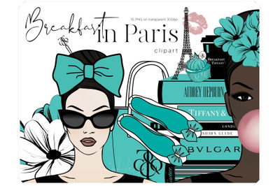 Fashion Illustration Clip Art - Audrey Hepburn