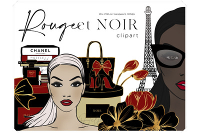 Fashion Illustration Clip Art - Luxury Brands Clipart