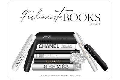 Fashion Books Clipart - Stacked Books