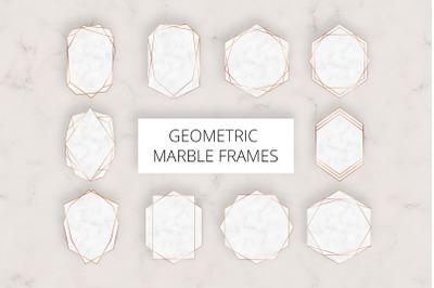 Geometric Marble Frames