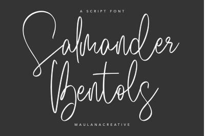 Salmander Bentols Script Signature Typeface Font