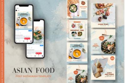 Asian Food Instagram Post Template