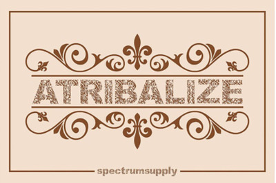 Atribalize Typeface free Illustrator And Border