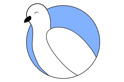 White dove sticker icon