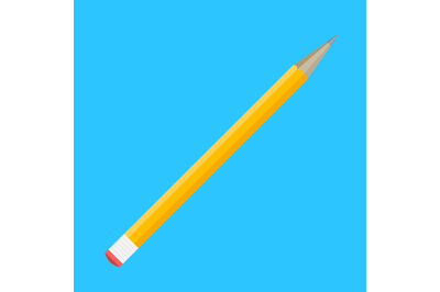 Pencil flat isolated
