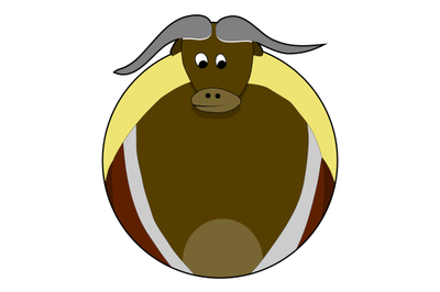 Sticker bull icon