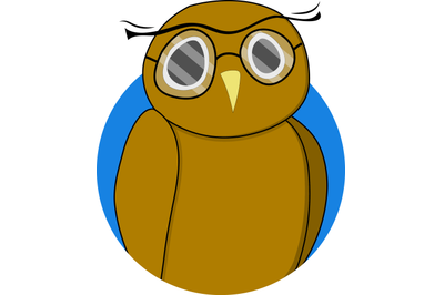 Wise owl sticker vector