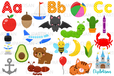 Alphabet Clip Art, ABC Illustrations, Alphabet Letters
