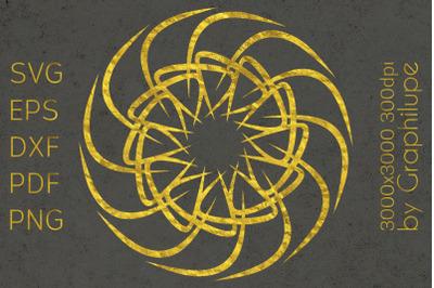 Simple Tribal Mandala cut file SVG no.7