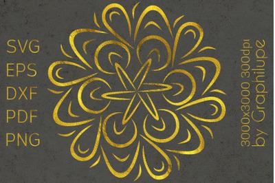 Simple Tribal Mandala cut file SVG no.8