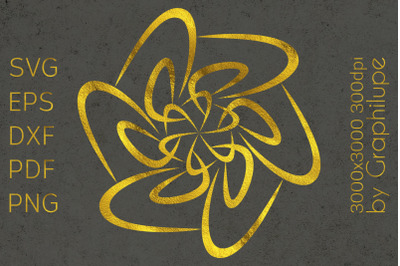 Simple Tribal Mandala cut file SVG no.10