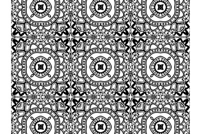 Abstract Pattern Black Color