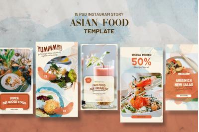 Asian Food Instagram Stories Template