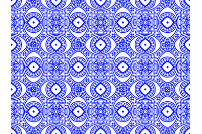 Pattern Abstract Blue Color Design